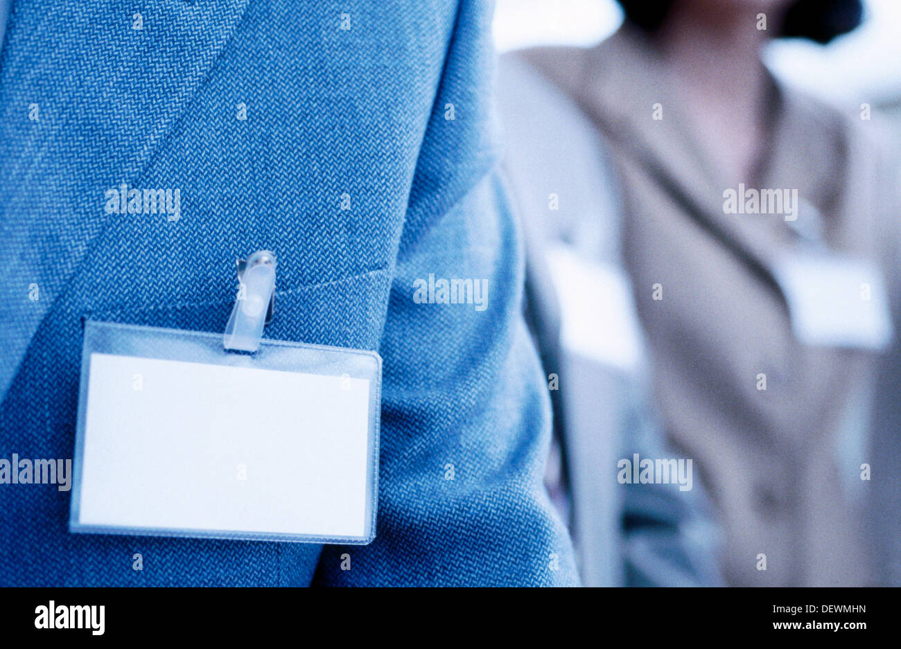 Business trade show, ID Cards - Stock Image