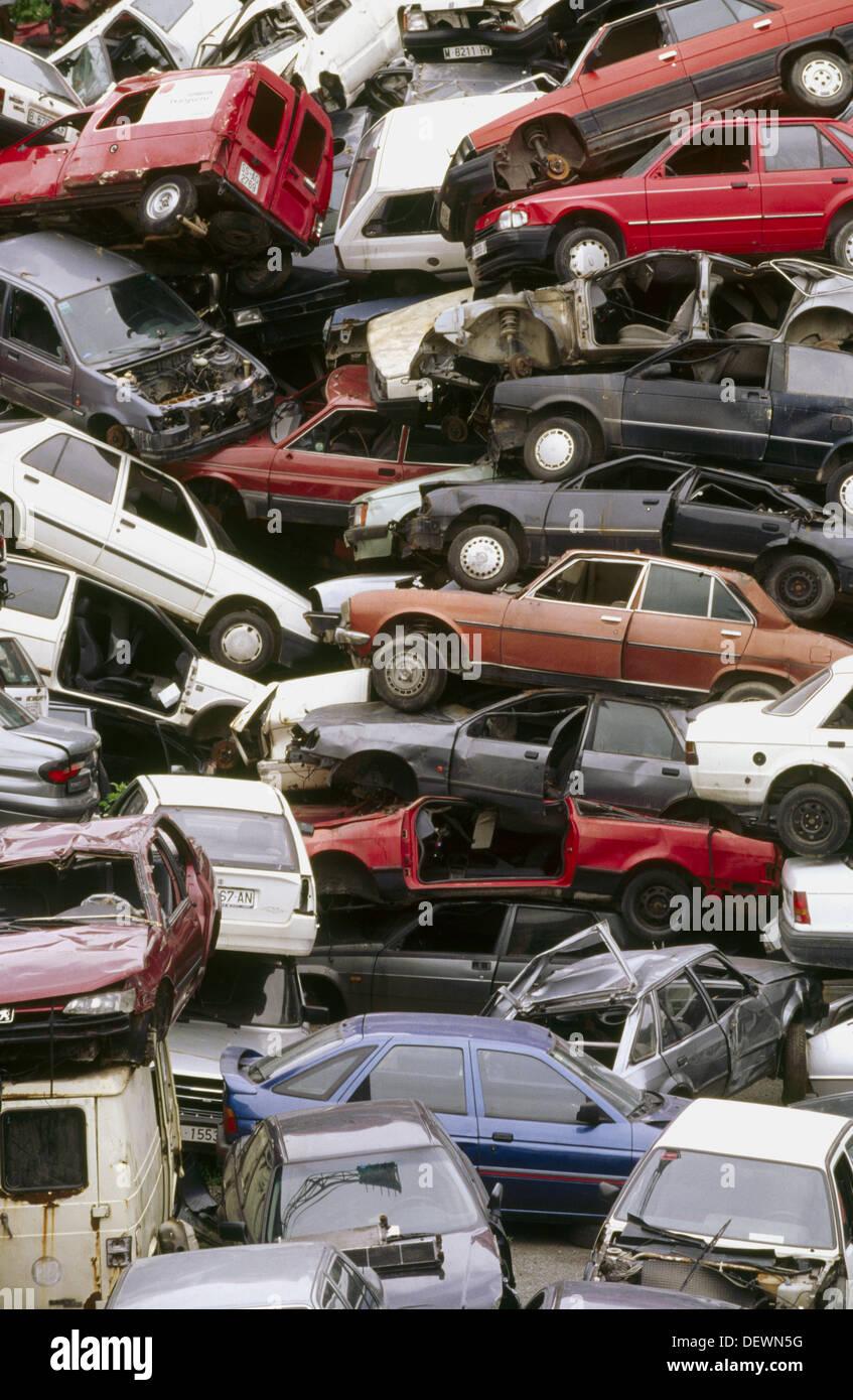 Car scrapyard - Stock Image