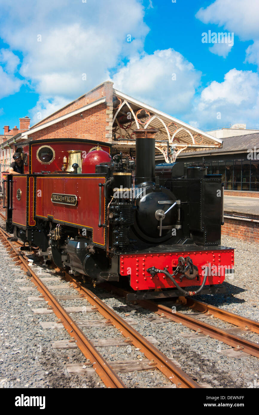 Steam locomotive 'The Prince of Wales' at the station at Devil's Bridge, Ceredigion, Wales. - Stock Image