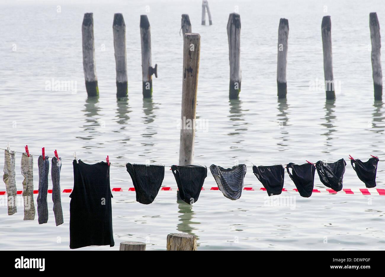 Camp site. Fusina. Venice. Italy Stock Photo