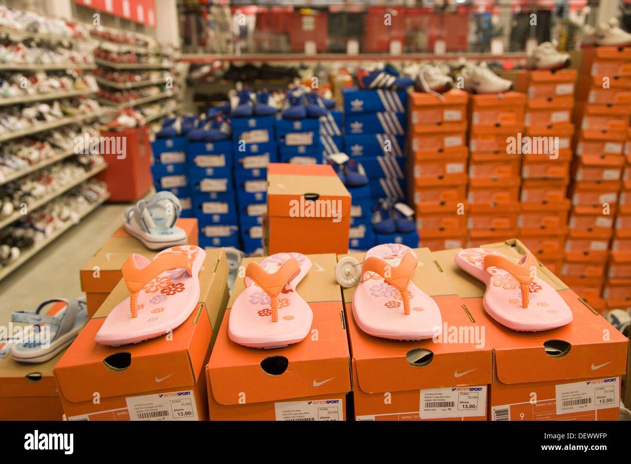 Sport shoes shop. Outlet, clearance