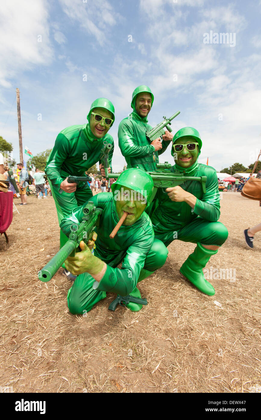 Fancy dress Toy Soldiers at the Glastonbury Festival 2013