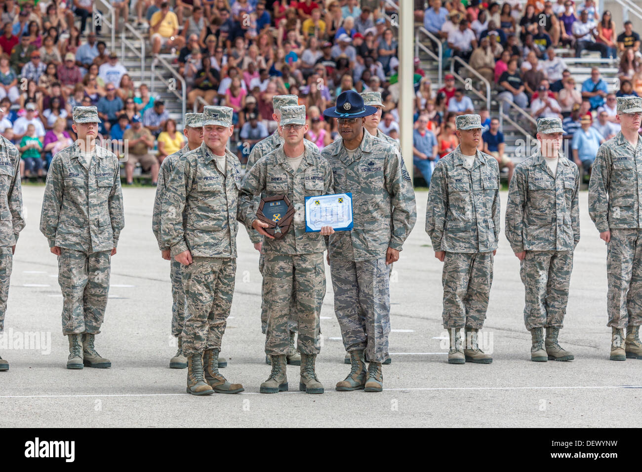 Awards being presented during United States Air Force basic