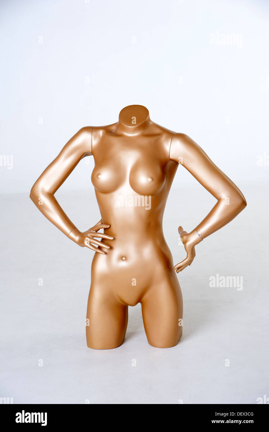 A manikin anatomical model of a woman's body - Stock Image