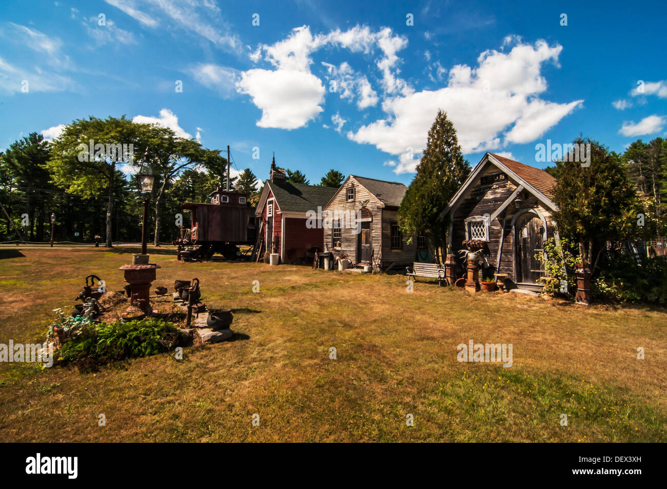old country houses in Maine, Usa - Stock Image