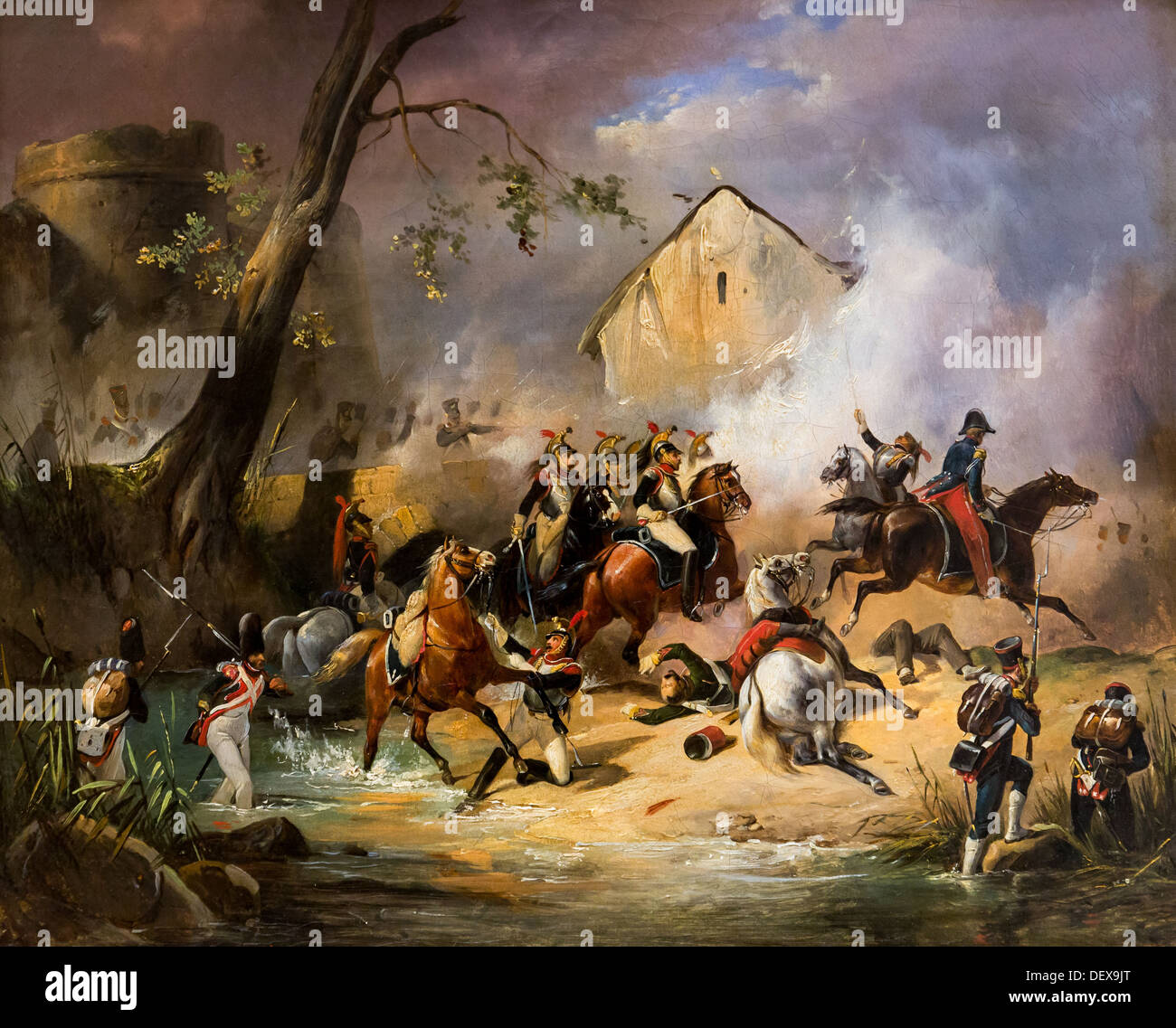 19th century  -  Battle, around 1840 - Horace Vernet Philippe Sauvan-Magnet / Active Museum Oil on canvas - Stock Image