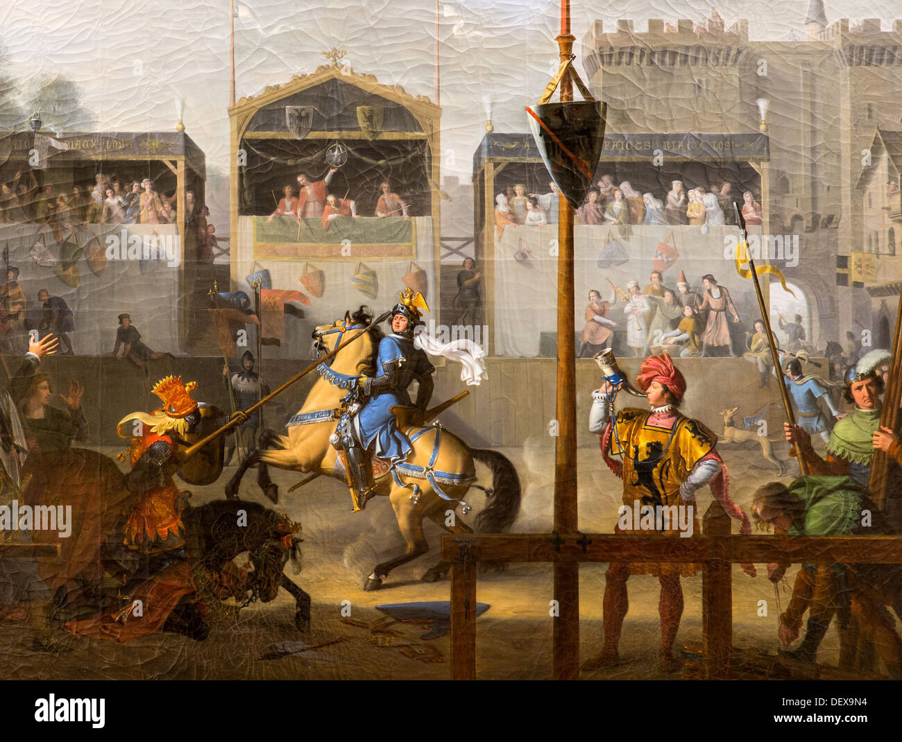 19th century  -  A Tournament in the 14th century, 1812 - Pierre Révoil Philippe Sauvan-Magnet / Active Museum oil on canvas - Stock Image