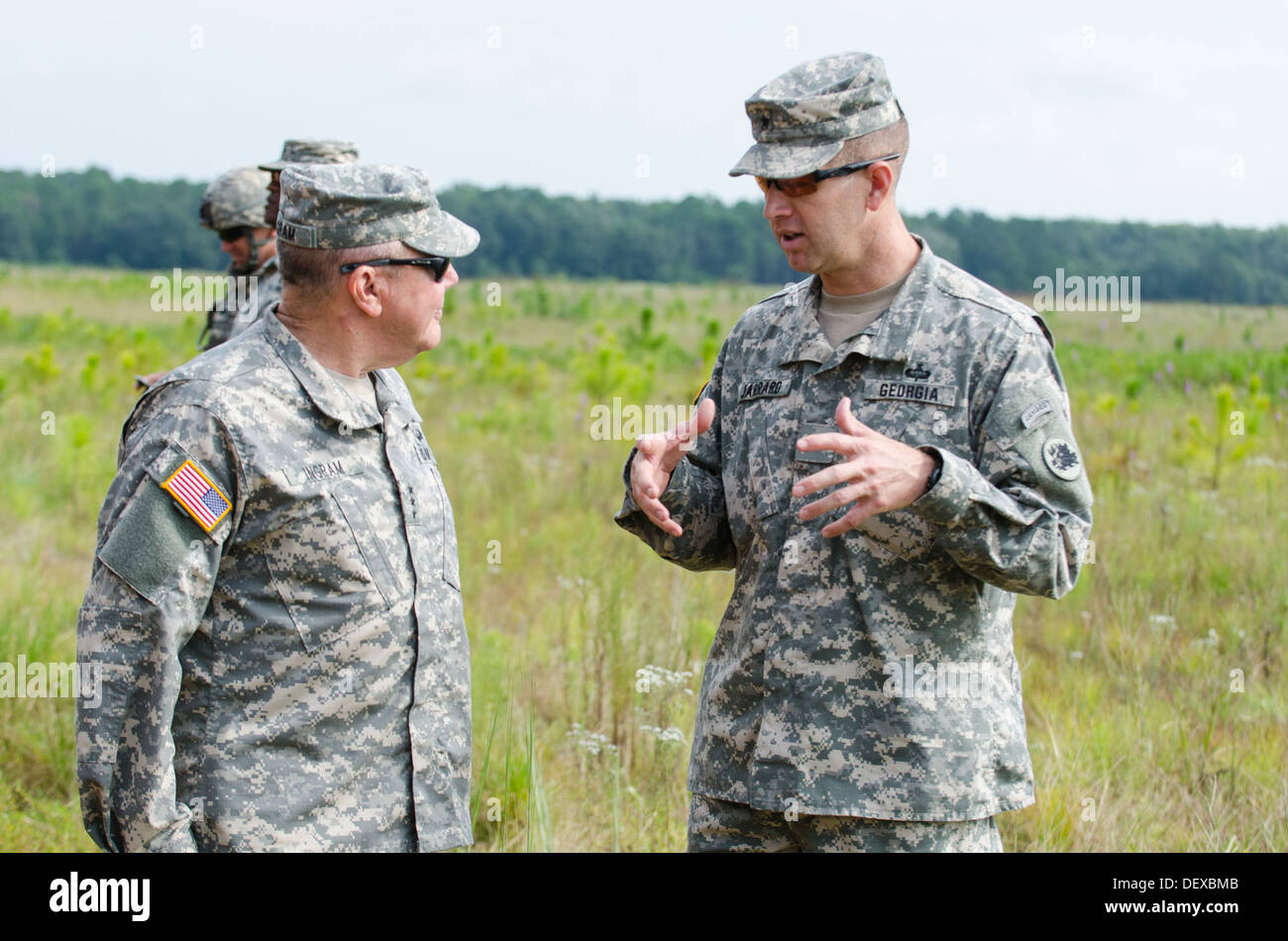 Army National Guard Director Lt. Gen. William Ingram, Jr. and Assistant Adjutant General, Georgia Department of Defense, Brig. G - Stock Image