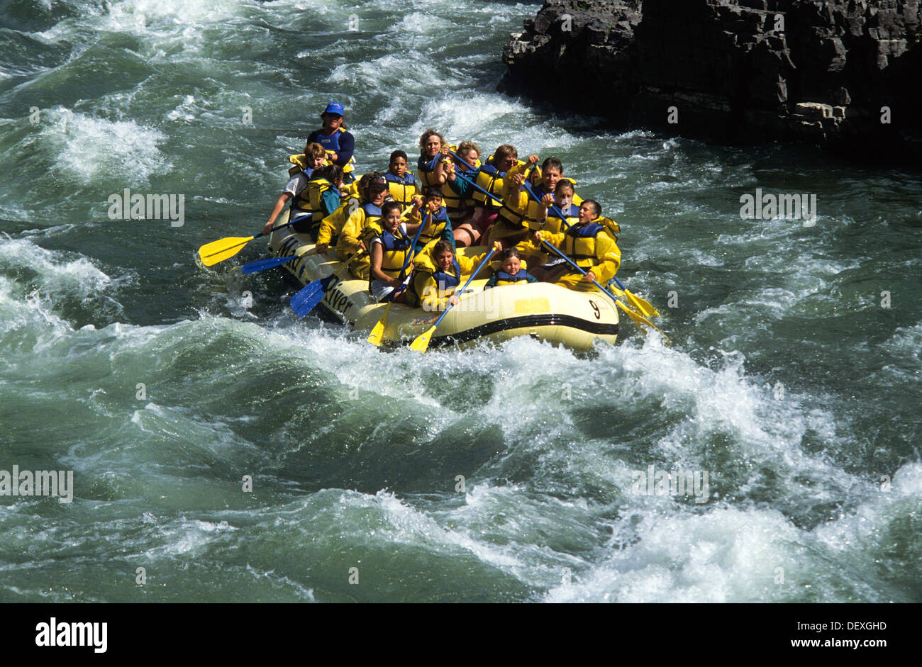 Elk266-1257 Wyoming, Jackson Hole, Snake River, whitewater rafting - Stock Image
