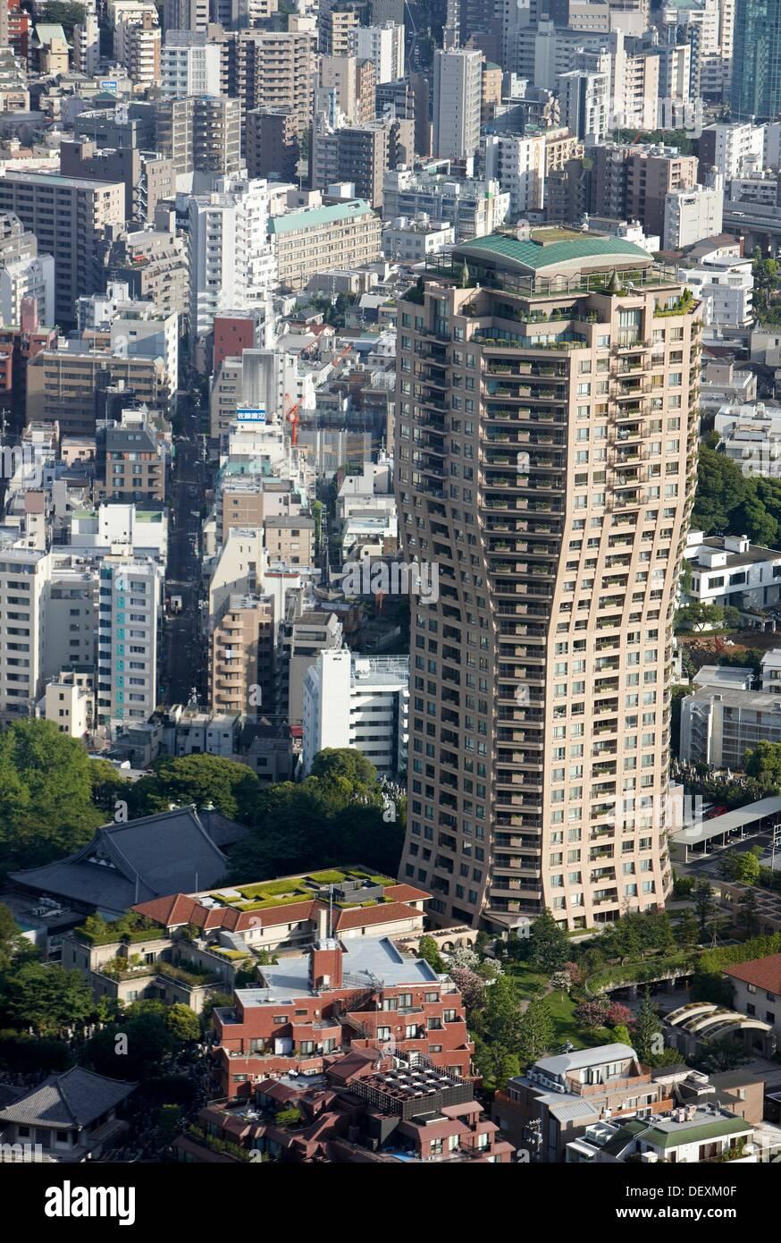 Moto-azabu Hills, Tokyo City View, Roppongi Hills Mori Tower, Tokyo, Japan. - Stock Image