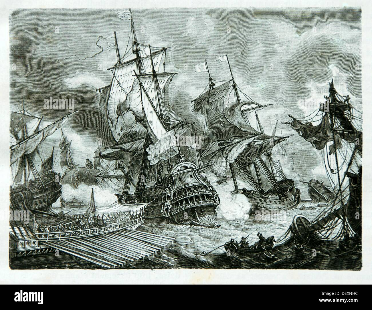 Battle of Palermo on 2 June 1676 during the Franco-Dutch War - Stock Image