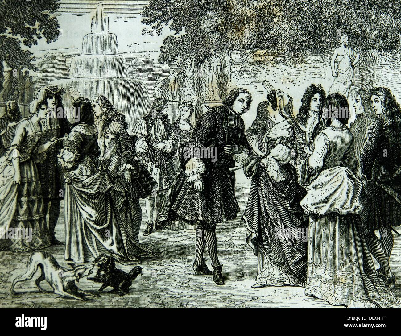 France, History, dressing way around 1700 - Stock Image