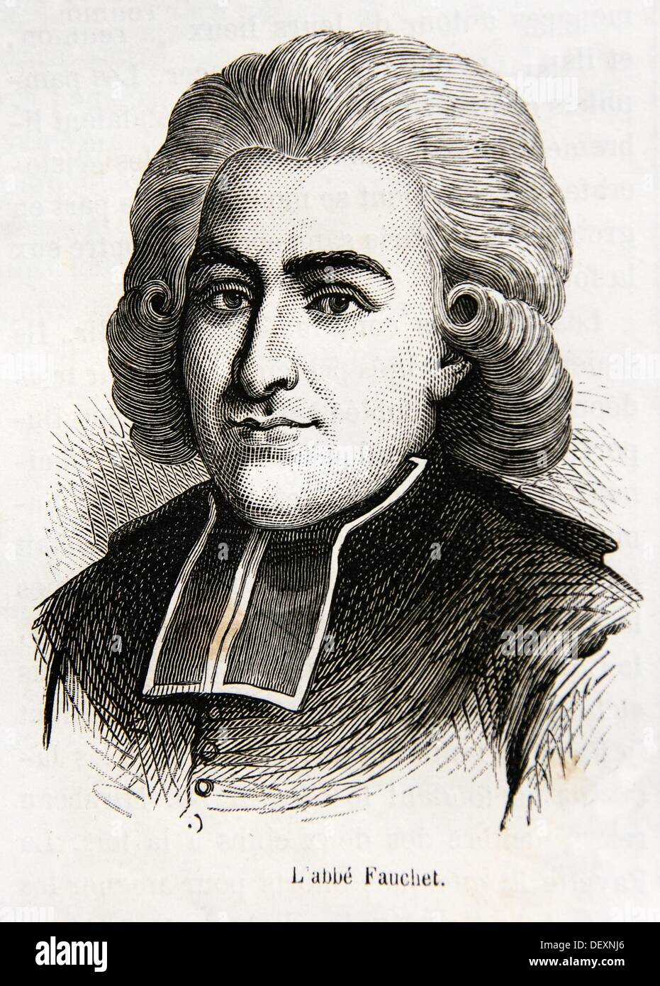 Claude Fauchet (22 September 1744 - 31 October 1793), French revolutionary bishop - Stock Image