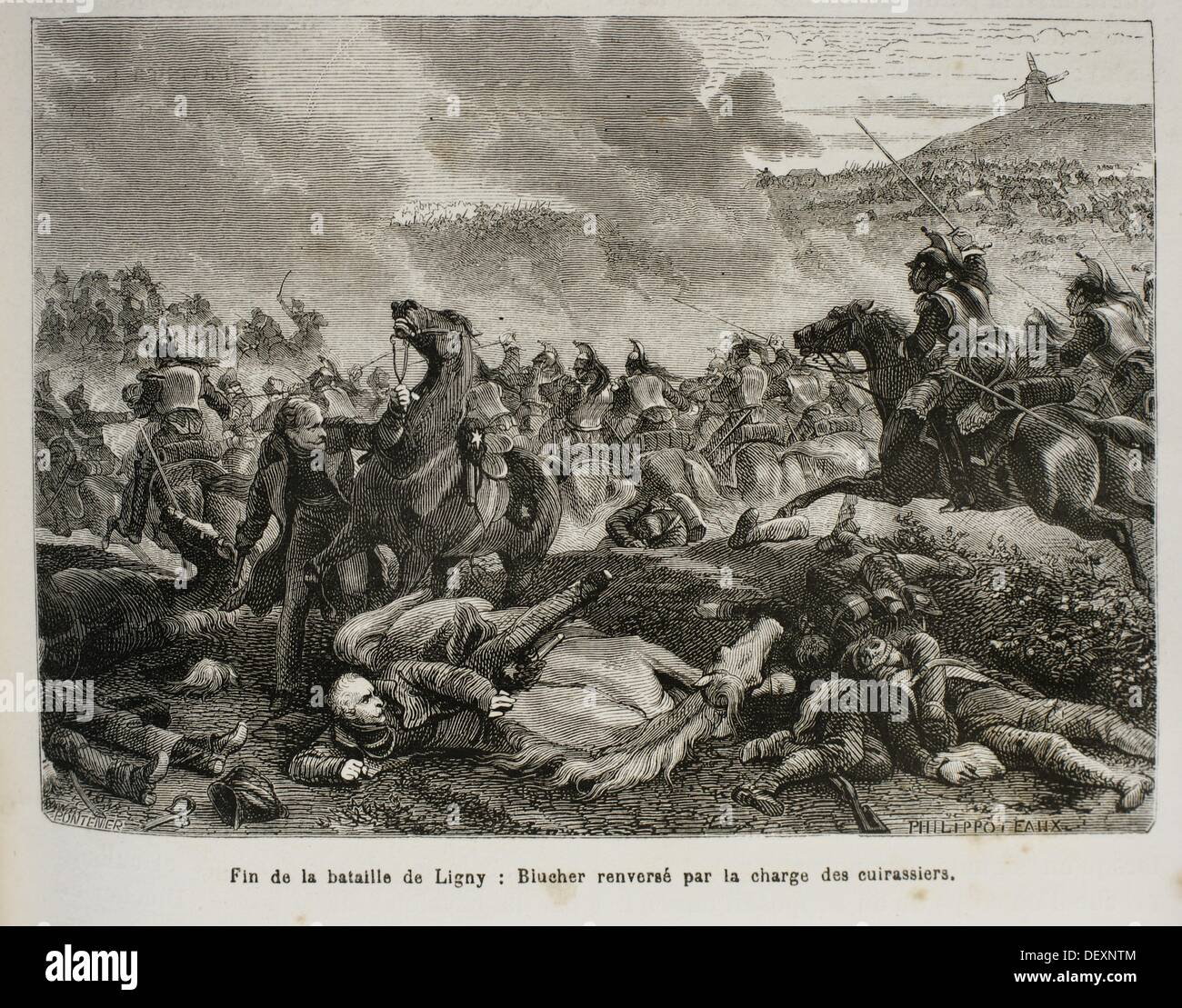 France, History, 19th Century, The Battle of Ligny 16 June 1815 was the last victory of the military career of Napoleon - Stock Image