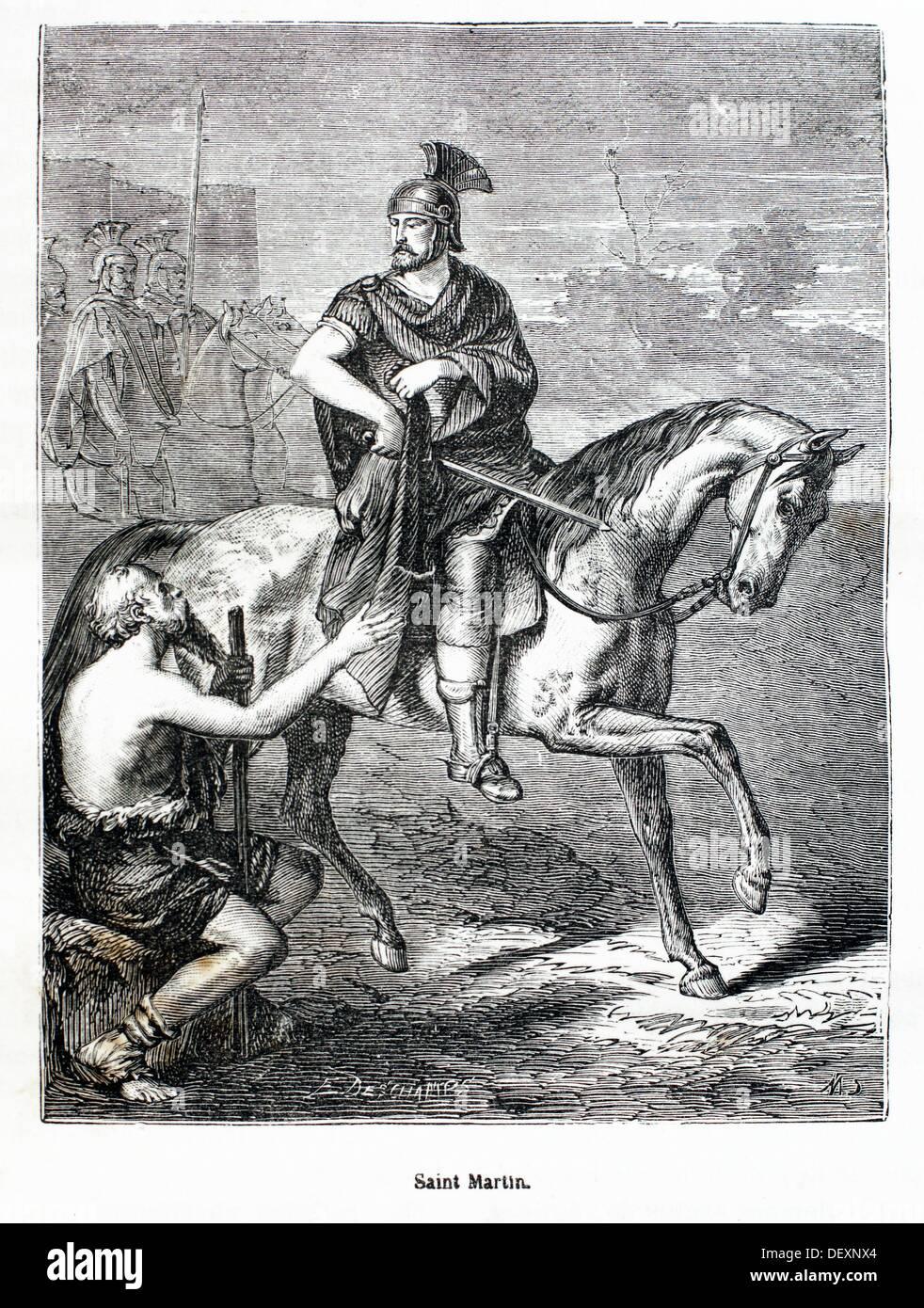 France, History- ´Saint Martin´ -Saint Martin of Tours Latin: Sanctus Martinus Turonensis, Savaria, Pannonia now Szombathely, - Stock Image