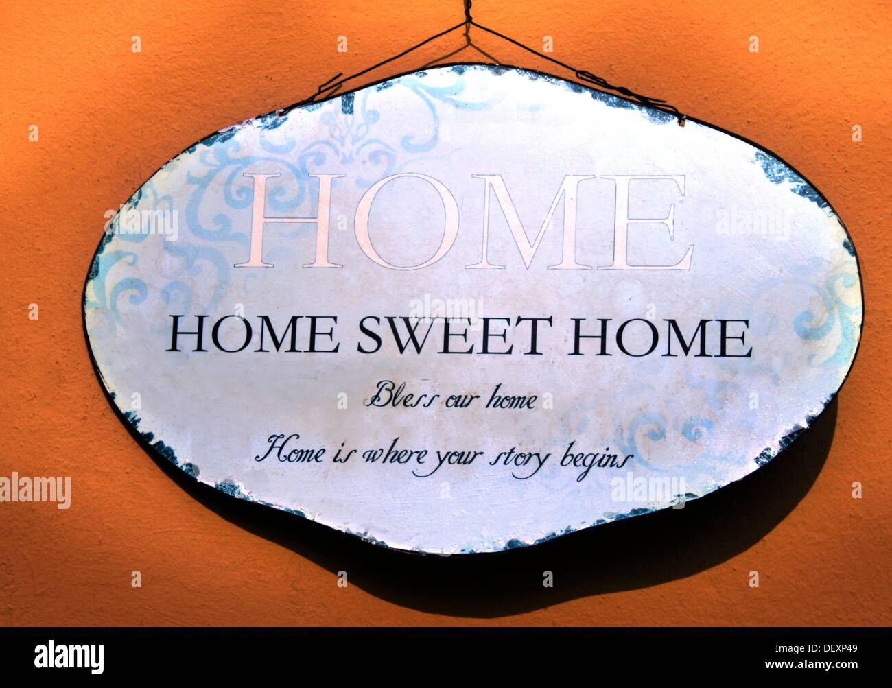 ´Home sweet home´ sign, South Africa - Stock Image