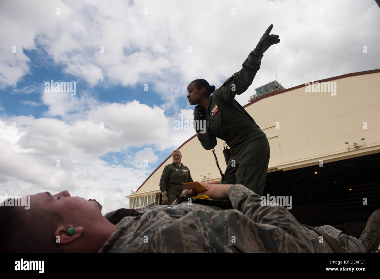Air Force Reserve Senior Airman Chemika Lynch, 433rd Aeromedical Evacuation Squadron emergency medical technician, Stock Photo