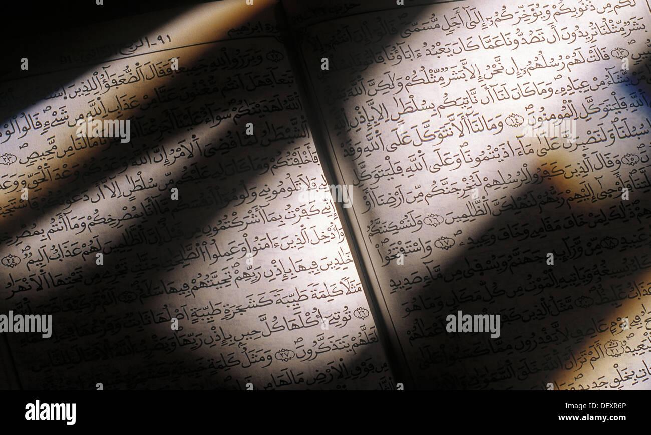 The Quran. Muslims Holy Book. Islam. - Stock Image