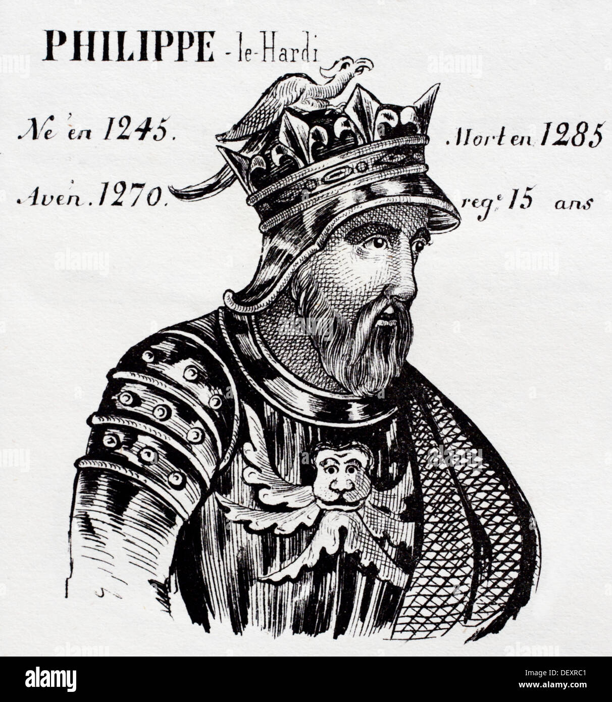 Philip III the Bold, king of France from 1270 to 1285. History of France