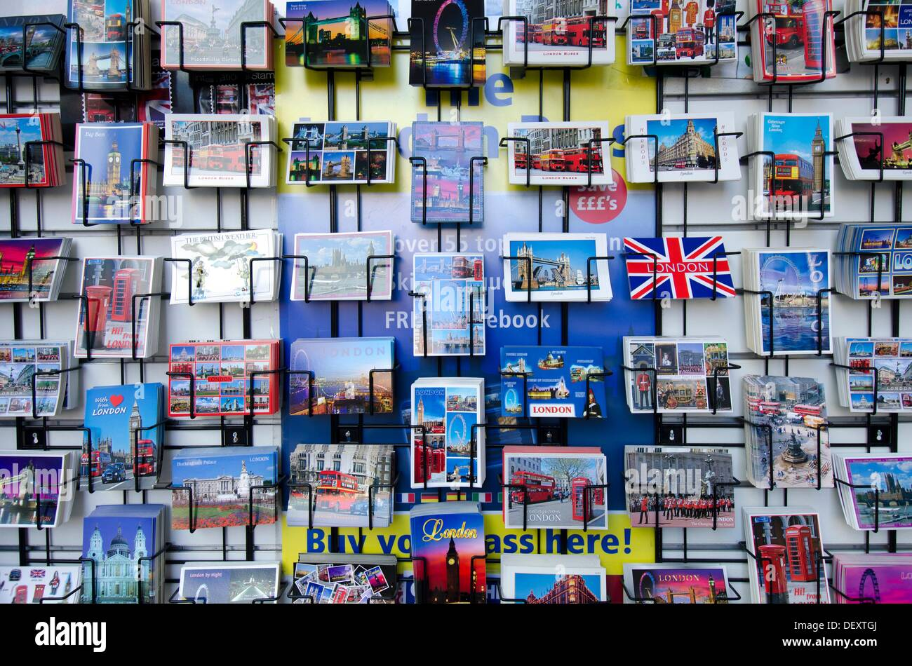 Postcards, city center, London, England, uk - Stock Image