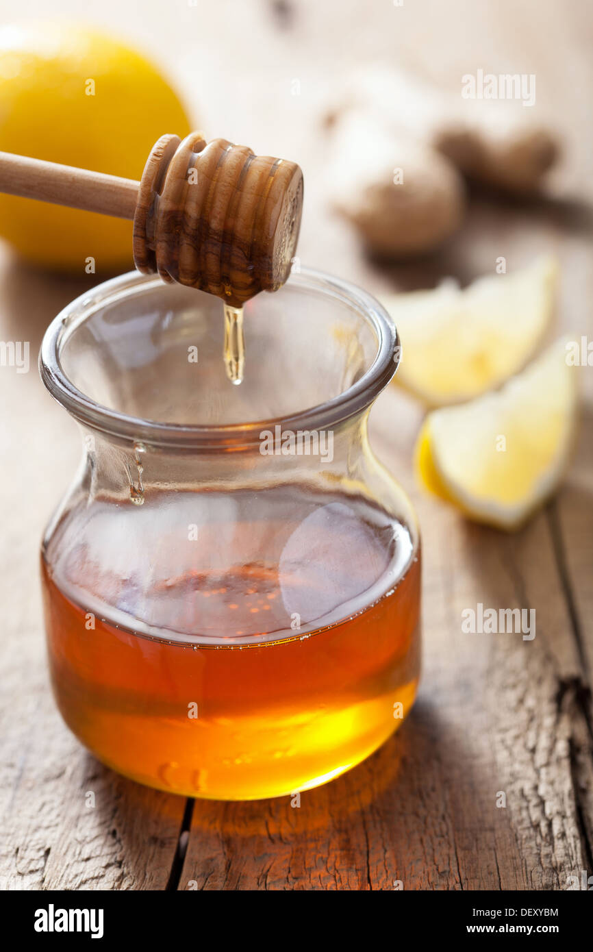honey lemon and ginger - Stock Image
