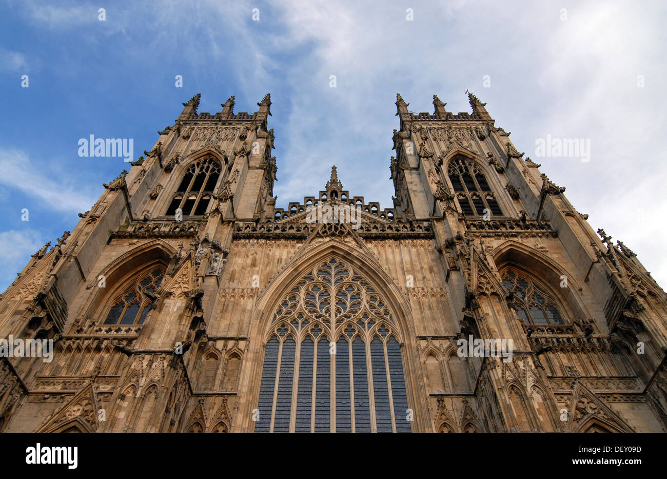 York Minster, the cathedral of York, Yorkshire, England, United Kingdom, Europe - Stock Image