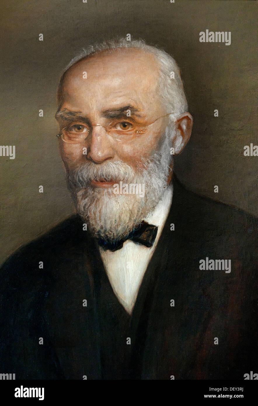 Portrait of Professor dr H.A. Lorentz 1853 - 1928  by Hendrik van Borssum Buisman Dutch Netherlands - Stock Image