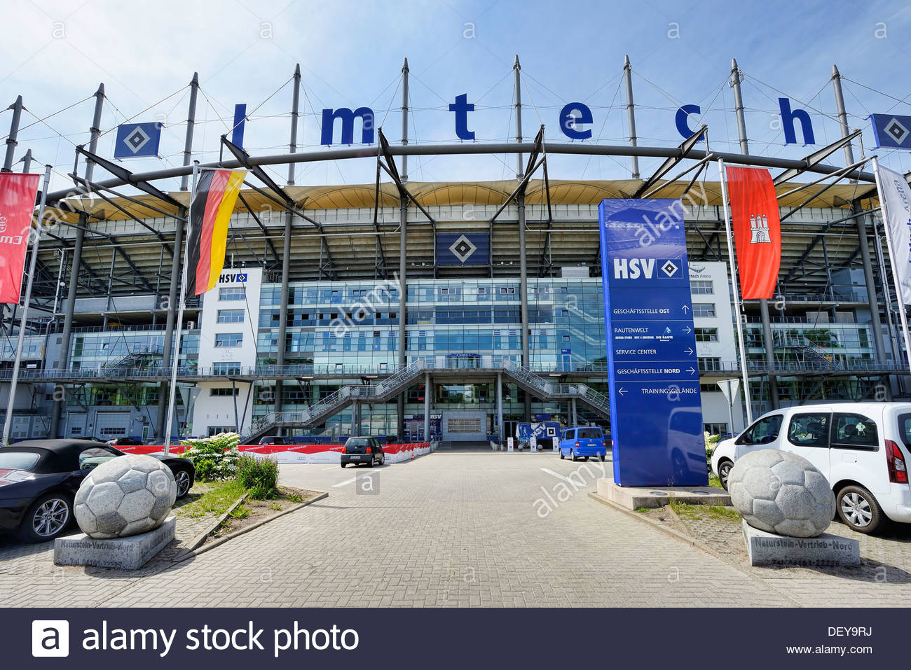 Imtech arena, home stadium HSV in stretcher field, Hamburg, Germany, Europe, Imtech Arena, HSV-Heimstadion in Bahrenfeld, Deutsc - Stock Image