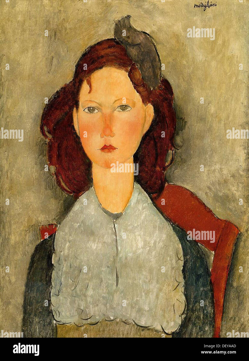 Amedeo Modigliani - Sitting Girl - 1918 - National Gallery of Art - Washington - Stock Image