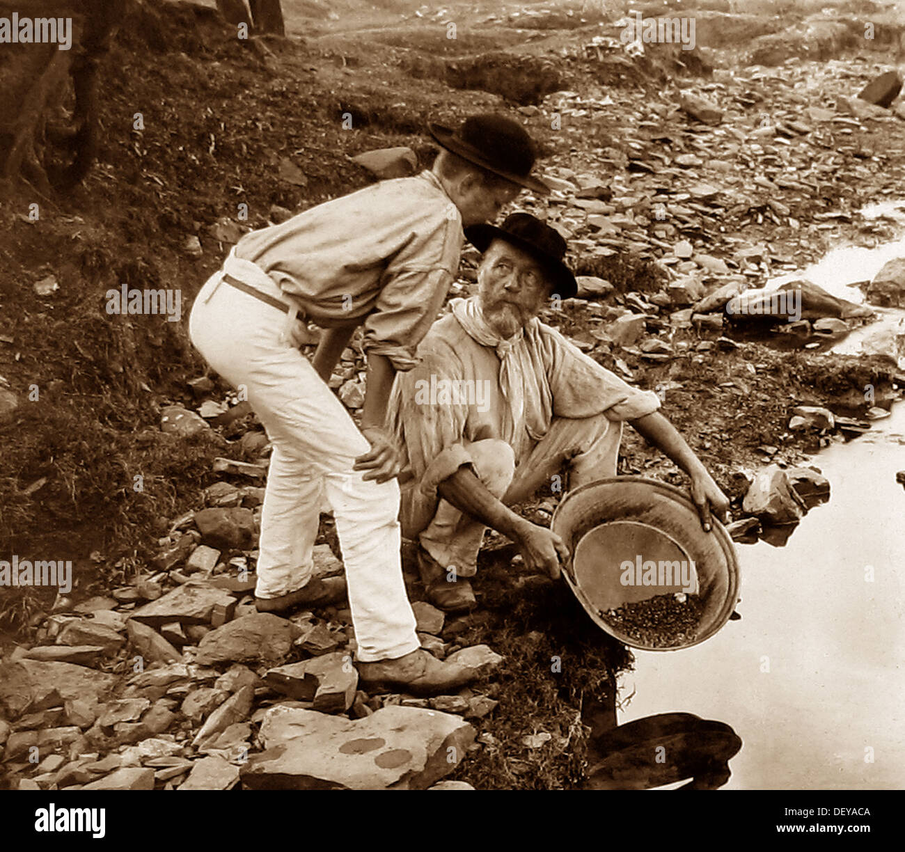Alluvial Gold Miners Stock Photos & Alluvial Gold Miners Stock