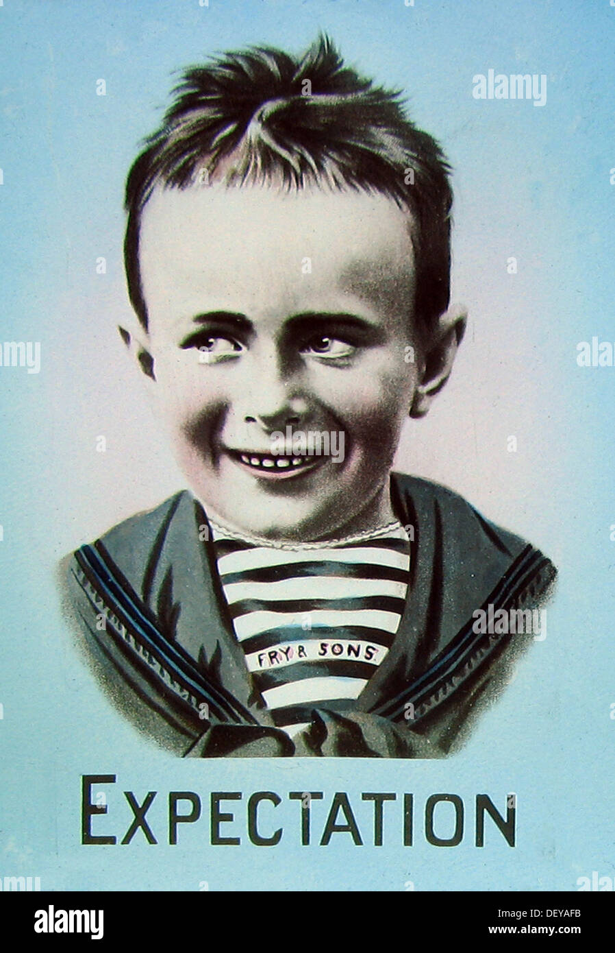 Advertisement For Frys Chocolate Five Boys Early 1900s