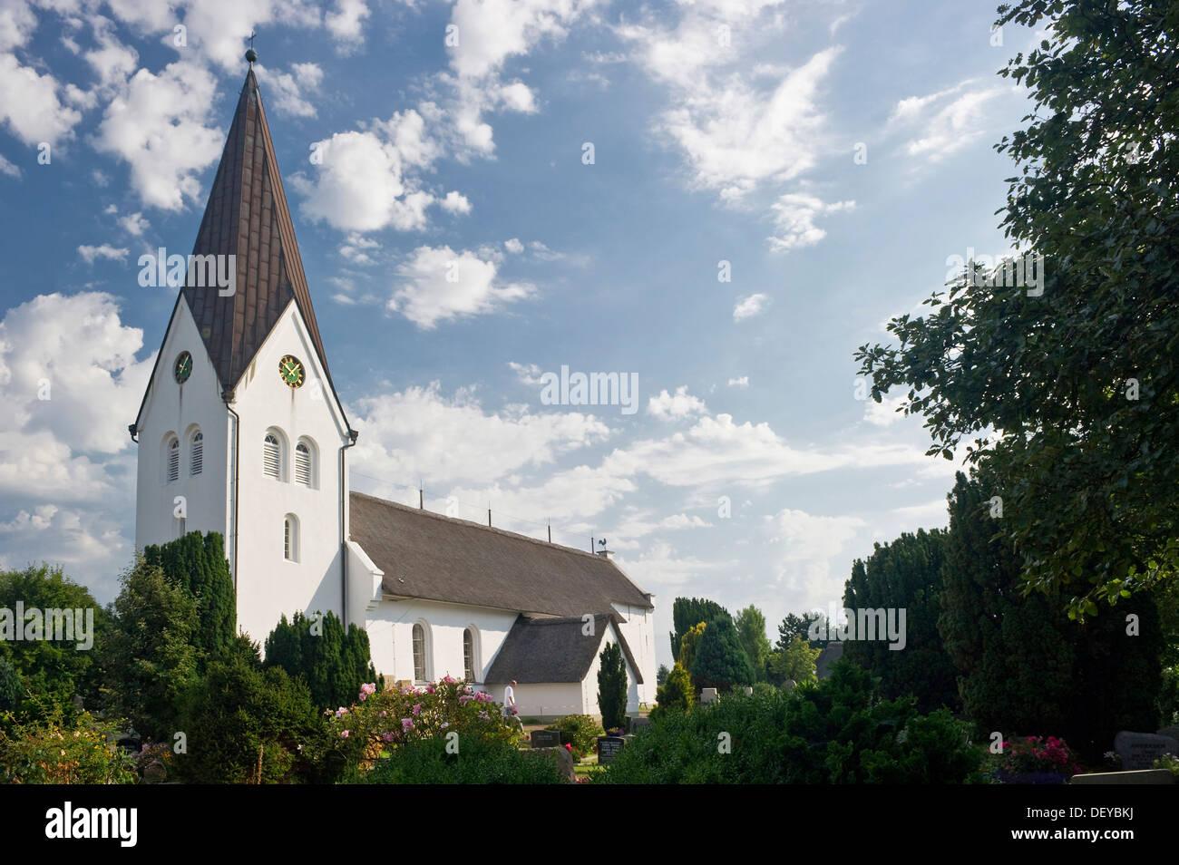 Church of St Clemens, Nebel, Amrum, North Frisian Islands, Schleswig-Holstein - Stock Image