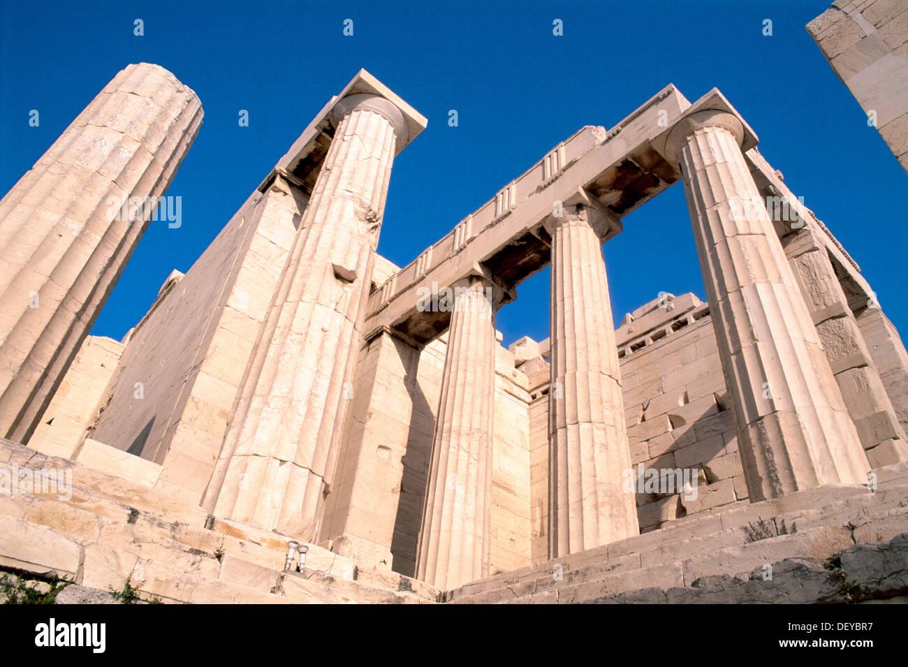 The Propylaea. Acropolis. Athens. Greece Stock Photo