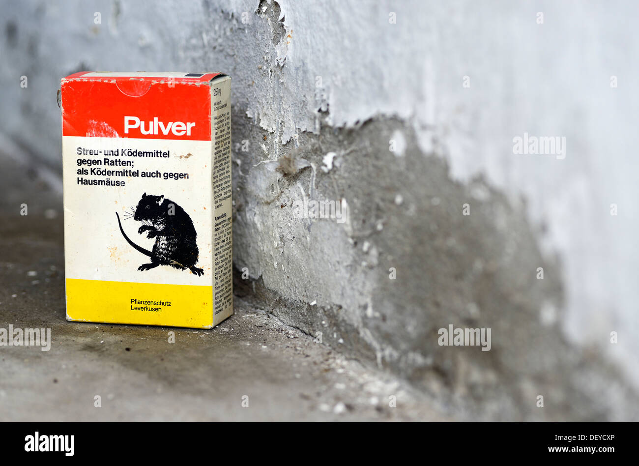 Rat poison, Rattengift - Stock Image