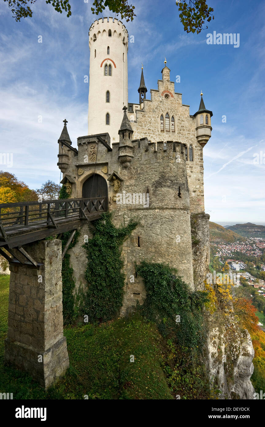schloss lichtenstein castle honau swabian alp baden wuerttemberg stock photo 60839539 alamy. Black Bedroom Furniture Sets. Home Design Ideas