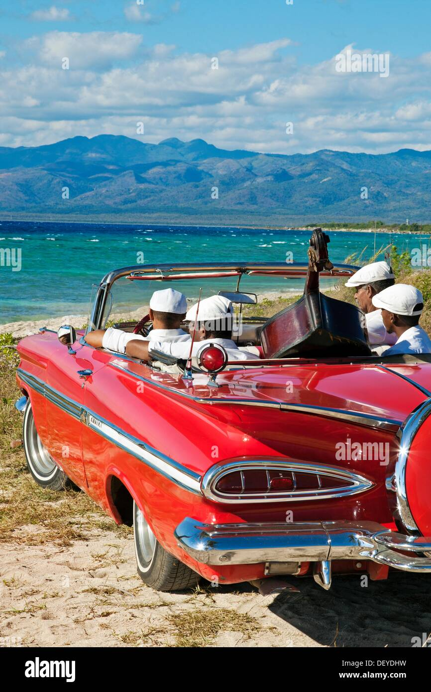 Ancon beach classic car and music band trinidad city for Music city motor cars