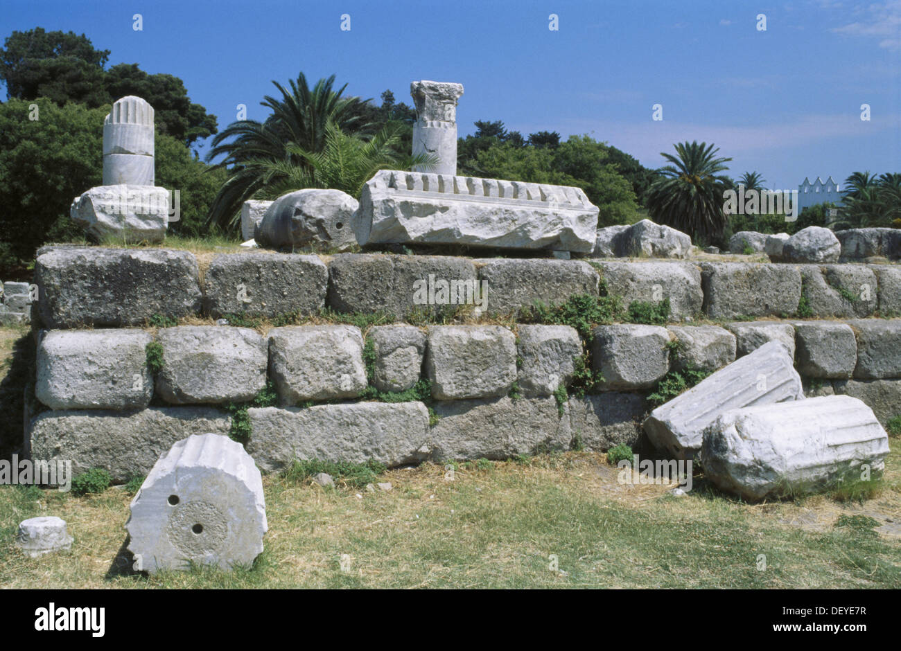 Ancient Agora (3rd century B.C). Kos town. Kos Island. Dodecanese. Greece Stock Photo