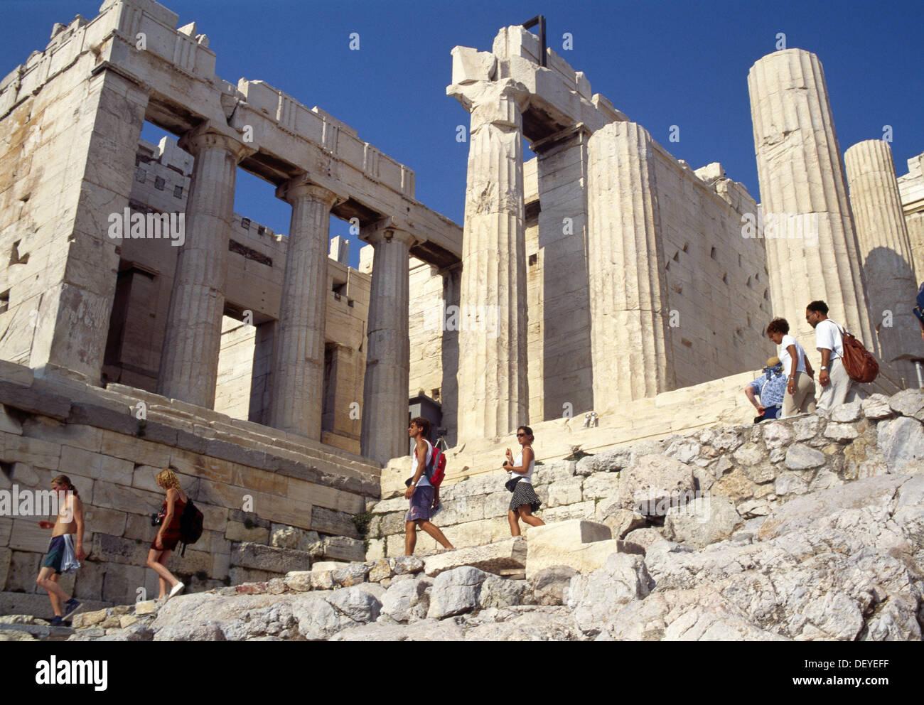 The Propylaea, Acropolis. Athens, Greece Stock Photo