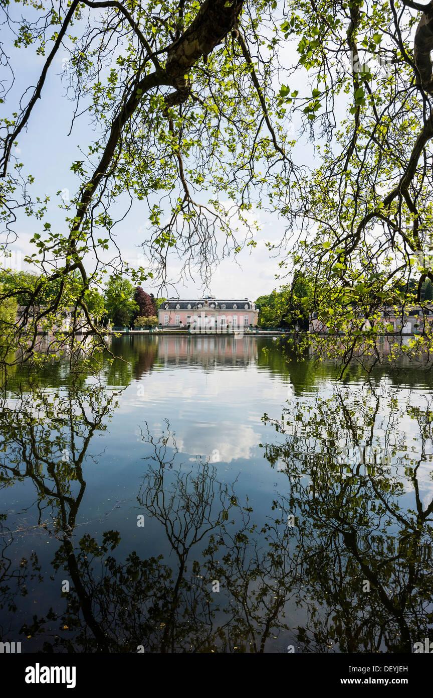 Schloss Benrath Palace and Park, Benrath, Düsseldorf, Rhineland, North Rhine-Westphalia, Germany Stock Photo