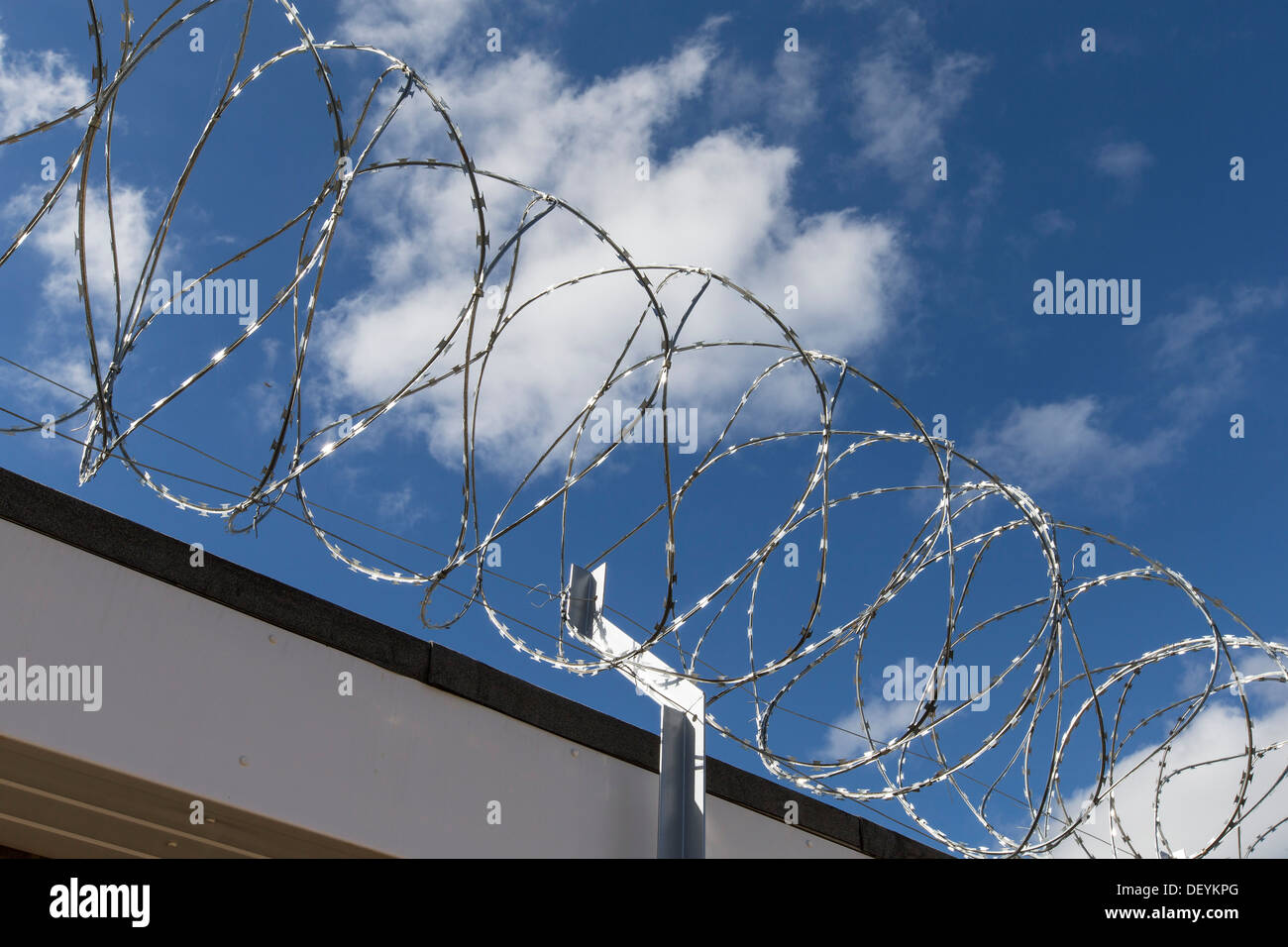 Razor Wire, Barbed wire, security fence, high security compound ...