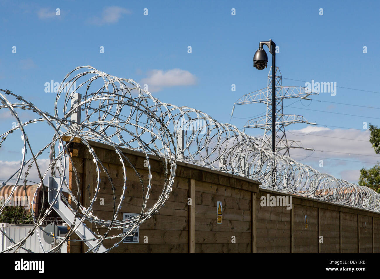 Razor Wire, Barbed wire, security fence, cctv, high security Stock ...