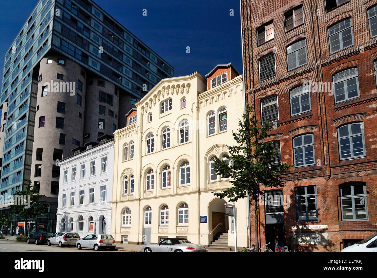 Office building and merchant's house on Schellerdamm in Harburg, Hamburg Stock Photo