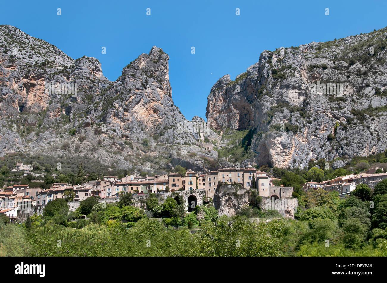 Moustiers Sainte Marie Alpes de Haute Provence France - Stock Image