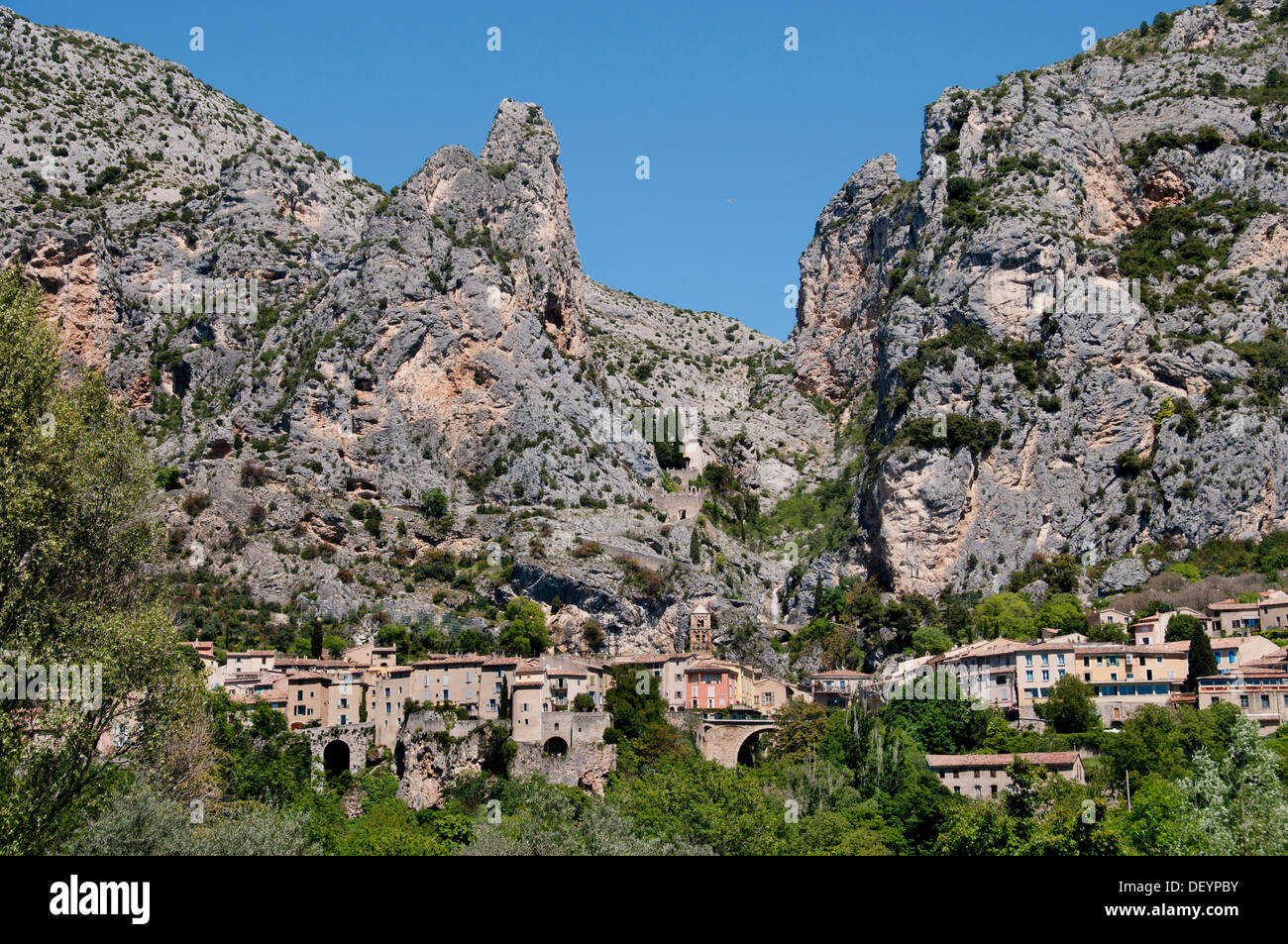 Moustiers Sainte Marie Alpes de Haute Provence France Stock Photo