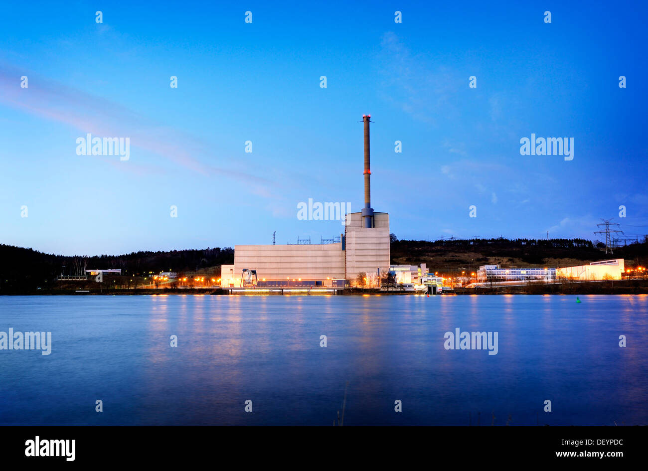 Kruemmel Nuclear Power Plant in Geesthacht, Schleswig-Holstein - Stock Image