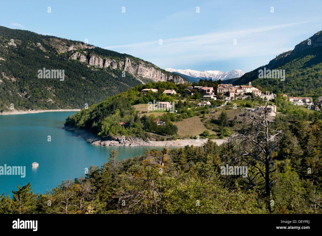 St Julien du Verdon  Les Gorges du Verdon Provence France - Stock Image