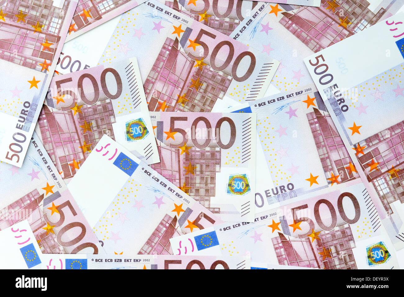 500-euro-notes, 500-Euro-Scheine - Stock Image
