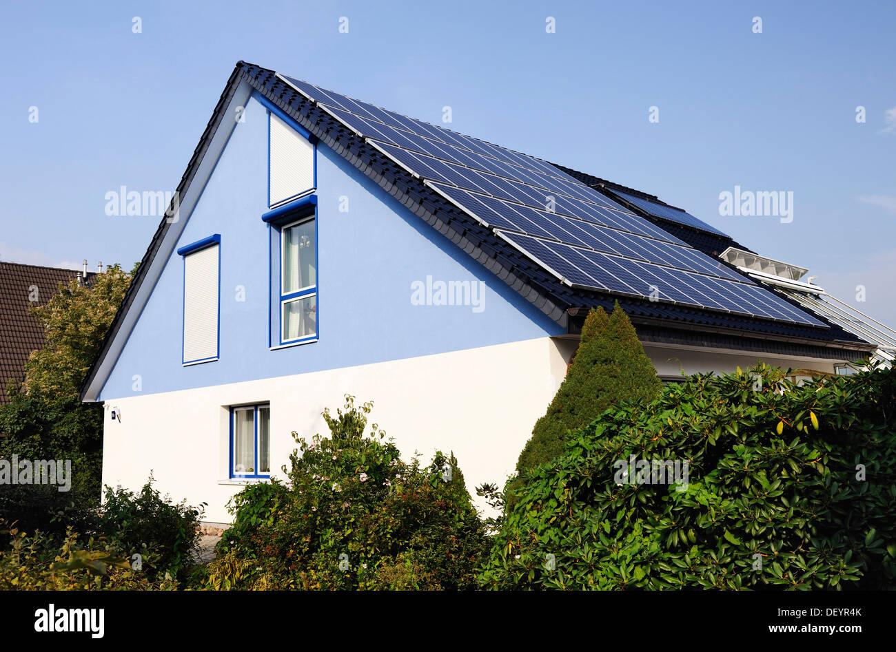 Solar Panels On Roof Houses Stock Photos Amp Solar Panels On