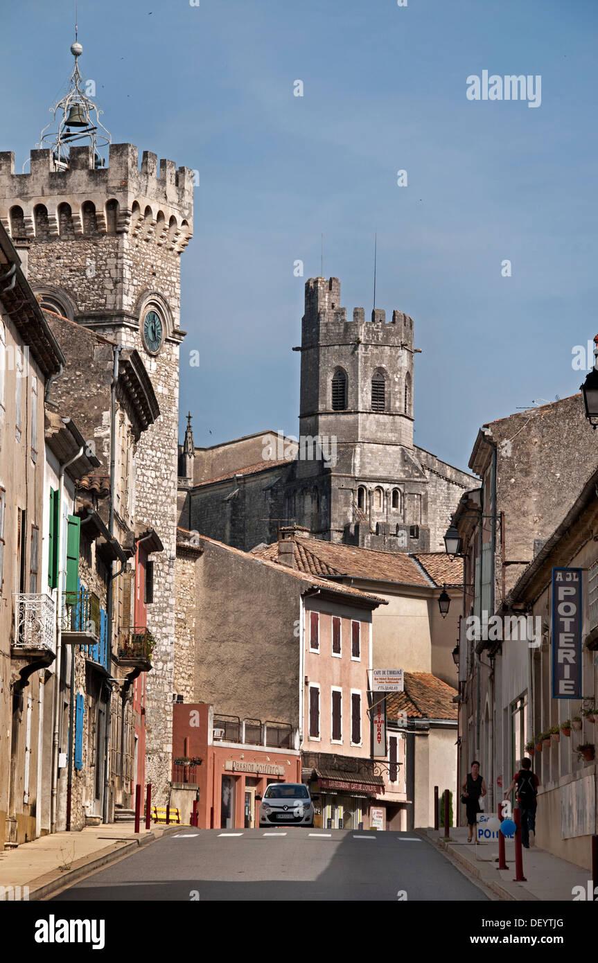 Vivier Ardèche Rhône Alpes Rhone Valley France Medieval French city - Stock Image