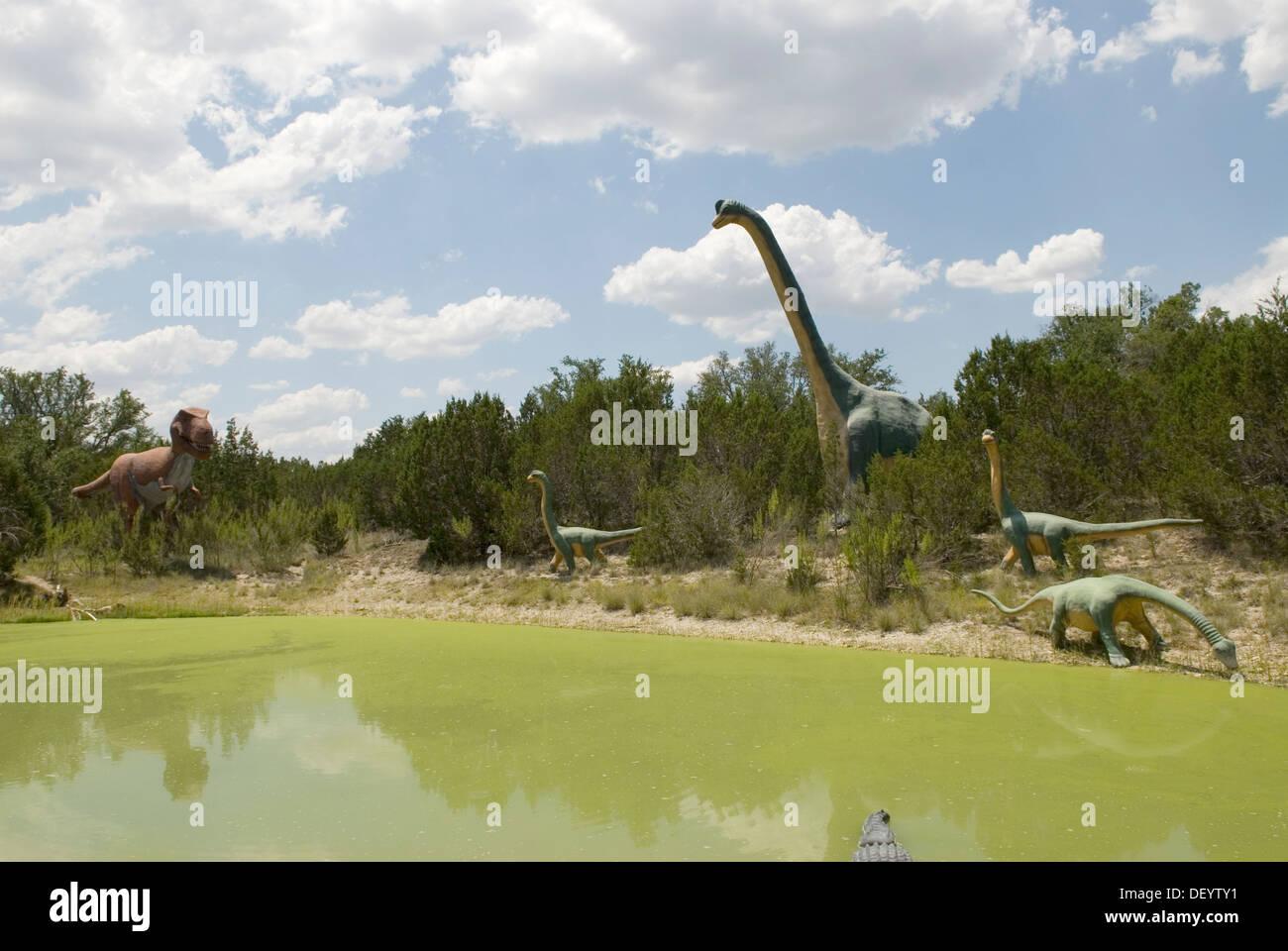 Dinosaur World at Glen Rose Texas USA Stock Photo